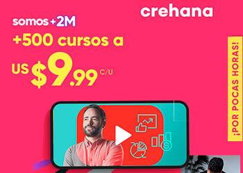 Crehana - Cursos a $9.99 USD
